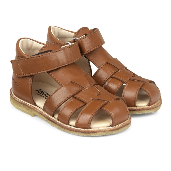Image of   ANGULUS Begyndersandal Normal/Bred Pasform - Cognac