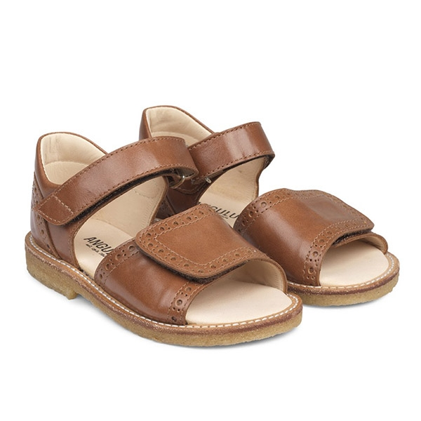 Image of   ANGULUS Sandal Bred Velcrolukning - Cognac