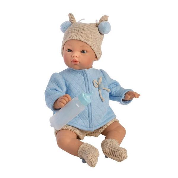 Image of Así Koke Babydukke 36 cm. - Blå Trøje
