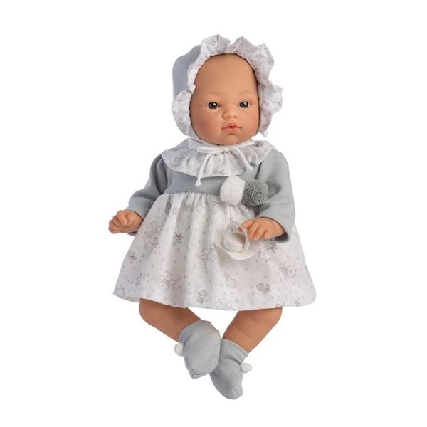 Image of Así Koke Babydukke 36 cm. - Grå Kjole