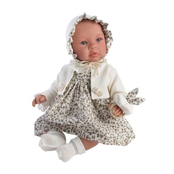Image of Así Leonora Babydukke 46 cm. - Blomstret Kjole