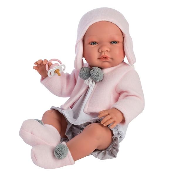 Image of Así Maria Babydukke 43 cm - Rosa Cardigan