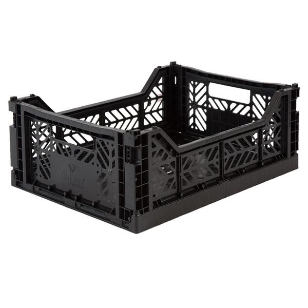 Image of   AYKASA Midi Foldekasse Black