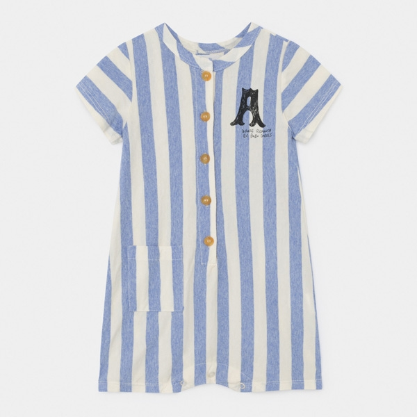 Image of   Bobo Choses Blue Striped Playsuit Dance