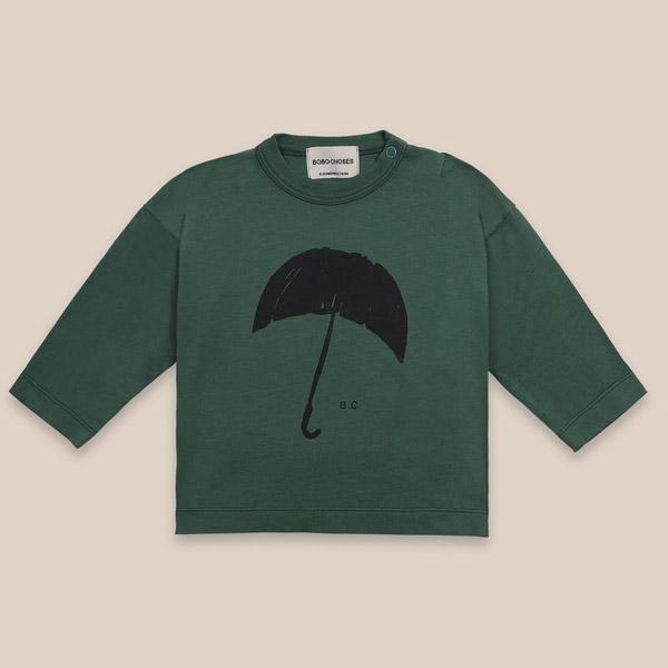Bobo Choses Umbrella Blouse Green