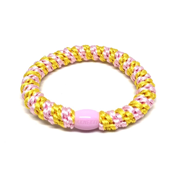 Image of   Bows by Stær Hårelastik - Light Pink/Yellow