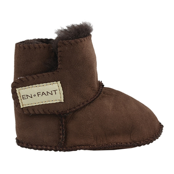 Image of   En Fant Sheepskin Bottee - Brown