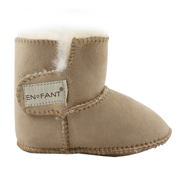 Image of   En Fant Sheepskin Bottee - Chestnut