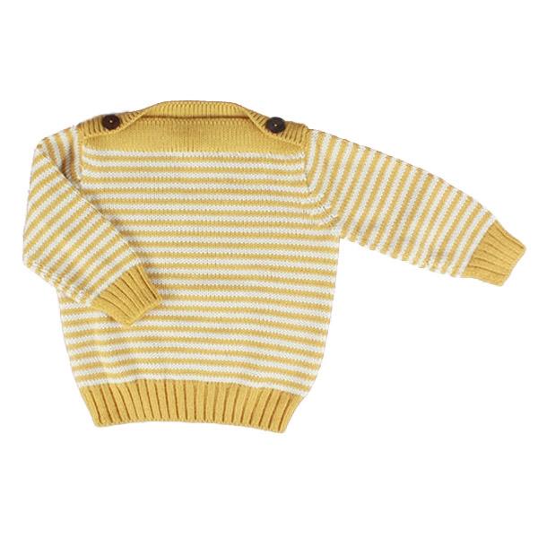 esencia Marine Sweater - Ivory/Amber
