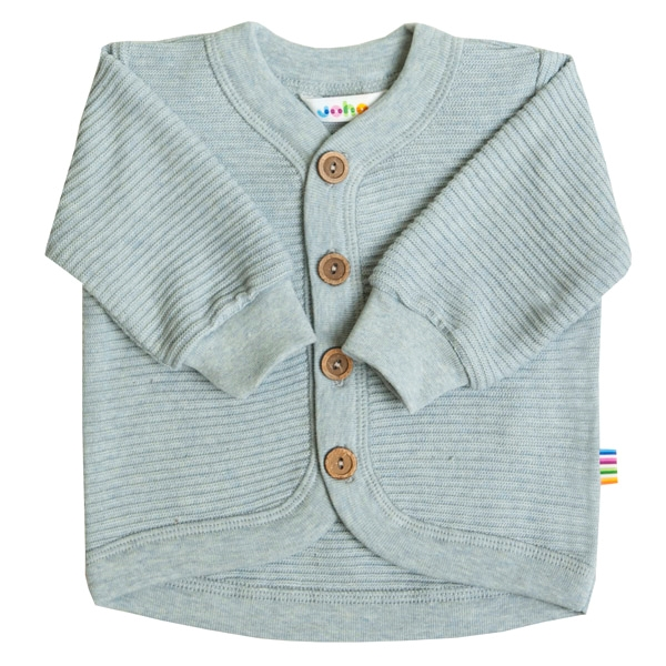 Image of   Joha Rille Cardigan Bomuld - Light blue
