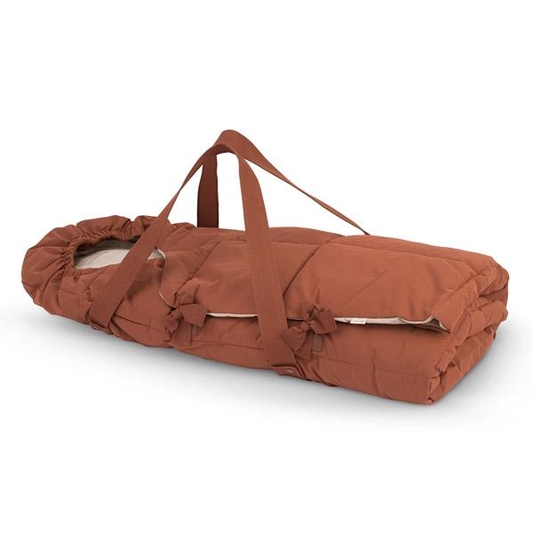 Konges Sløjd Nemuri Kørepose m. Bæreplade - Choco Bean