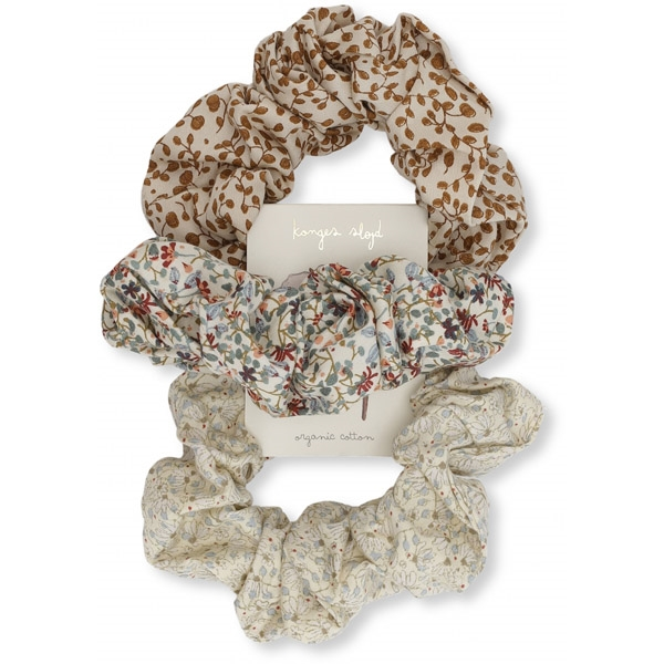 Image of   Konges Sløjd 3-pak Scrunchie - Multi