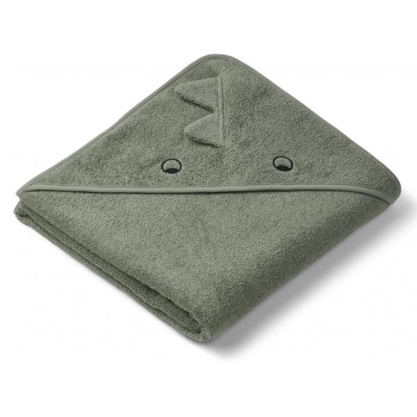 Image of   Liewood Babyhåndklæde Dino - Faune Green