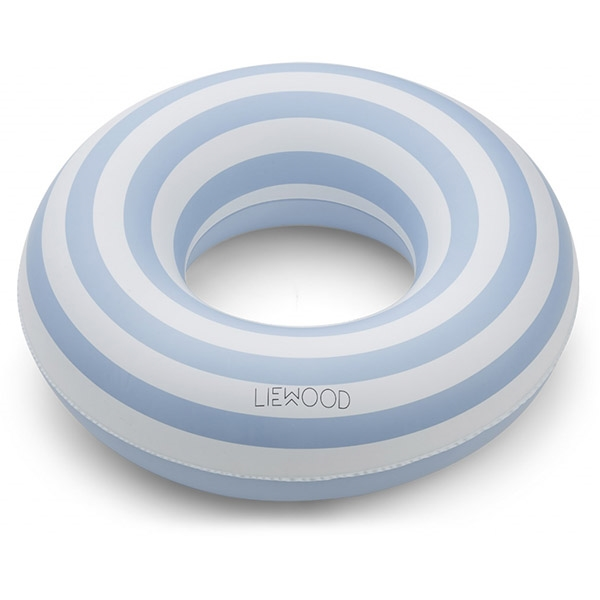Image of   Liewood Baloo Badering Stripe - Sea Blue/Creme