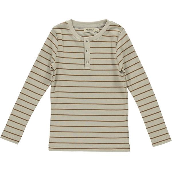 MarMar Leather Stripe Bluse