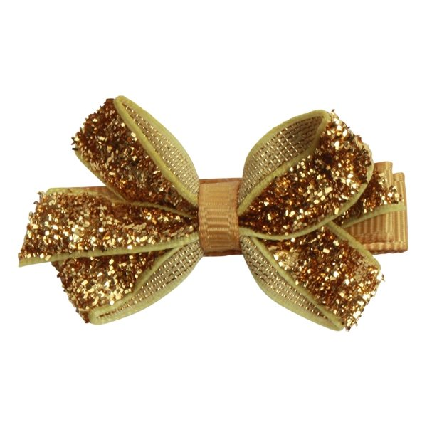 Image of   Bows by Stær Mini Bow - Gold Glitter