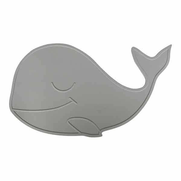 N/A By lille vilde dækkeserviet hval - lysegrå på parcellet