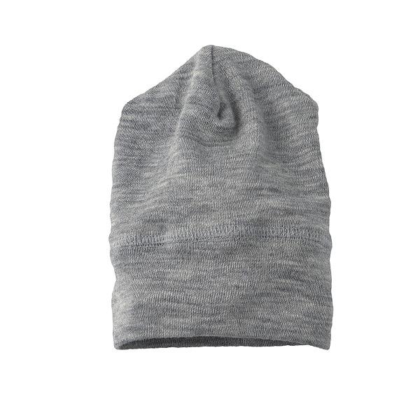 Image of   Baby Hat Uld/Silke Gråmelange - Engel