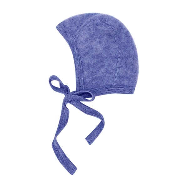 N/A Uldfleece babykyse i blue melange - engel fra parcellet