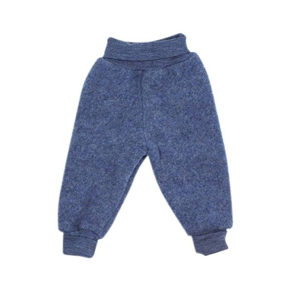 Billede af Uldfleece Bukser i Blue Melange - Engel