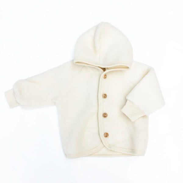 N/A – Uldfleece jakke i natur - engel på parcellet