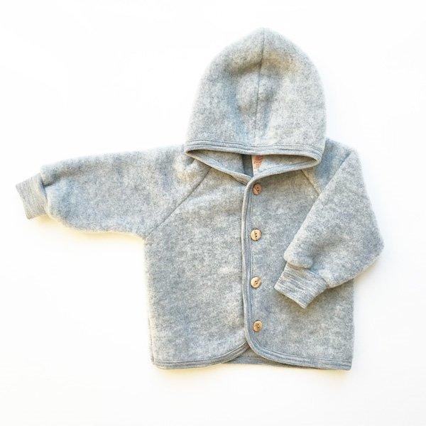 Uldfleece jakke i grå - engel fra N/A fra parcellet