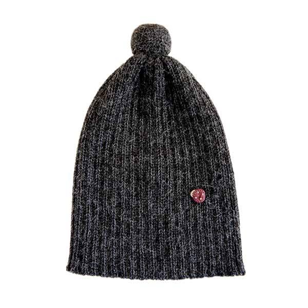 Image of   esencia Pompom Hat - Charcoal