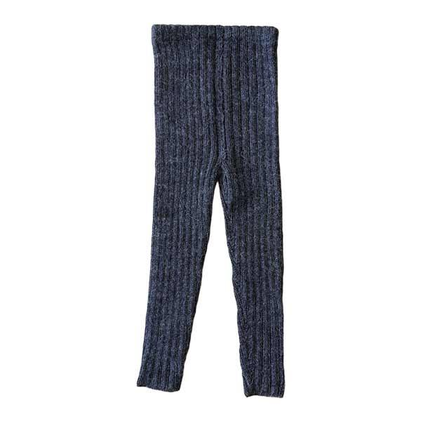 esencia Rib Leggings i Alpaca - Charcoal