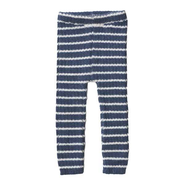 Image of   esencia Rib Leggings i Alpaca - Navy/Ivory