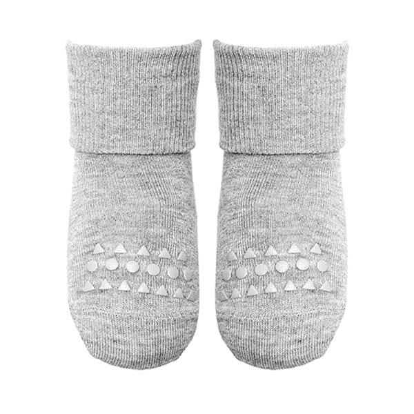 Image of   GoBabyGo Non-Slip Bambus Strømper - Light Grey