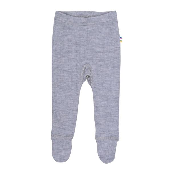 N/A – Joha uld leggings m. fødder - gråmelange fra parcellet