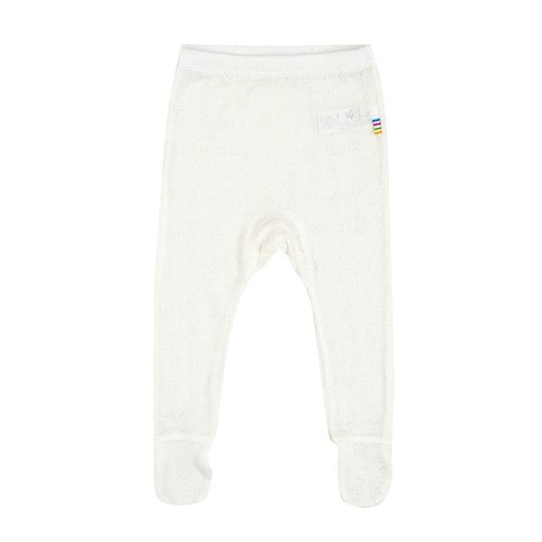 N/A – Joha hulmønster leggings m. fod i uld/silke - natur på parcellet