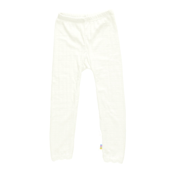 Joha leggings med hulmønster i uld/silke - natur fra N/A fra parcellet