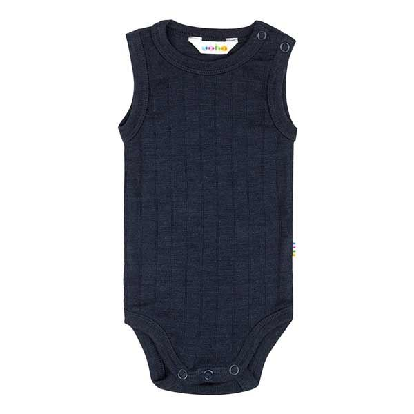 N/A Joha sleeveless body uld/silke - navy på parcellet