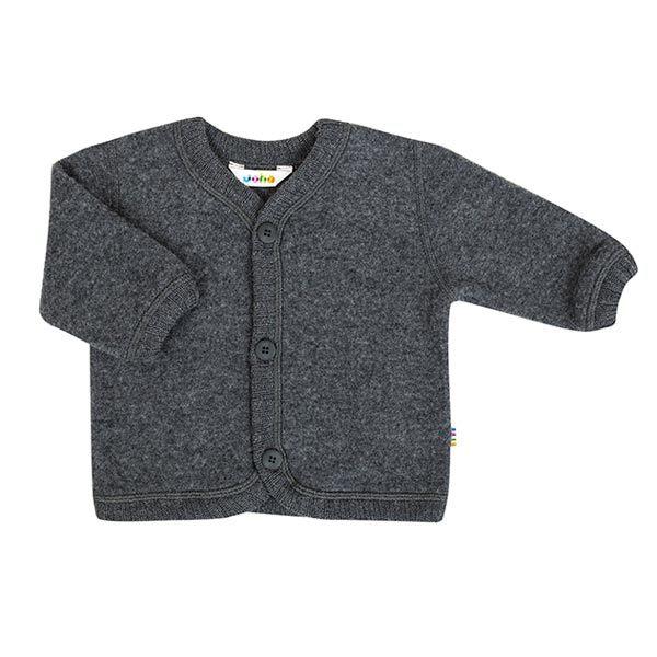 Joha uldfleece cardigan - koksgrå fra N/A på parcellet