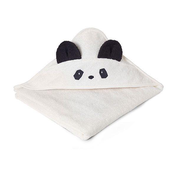 Image of   Liewood Babyhåndklæde Panda - Creme