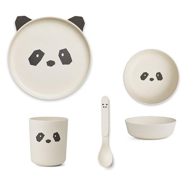 Image of   Liewood Bambus Spisesæt - Panda