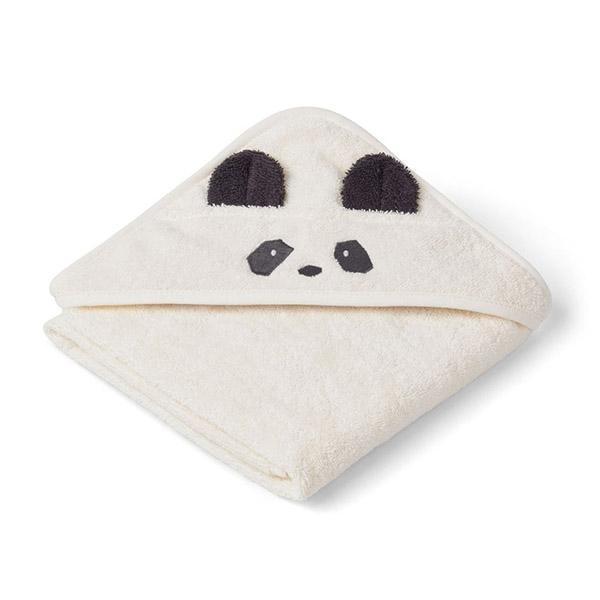 Billede af Liewood Newborn Håndklæde Panda - Creme
