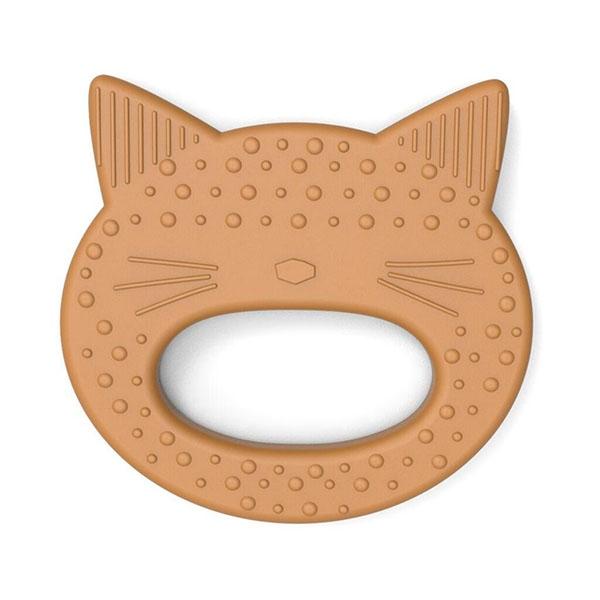 Liewood Silikone Bidering - Cat Mustard