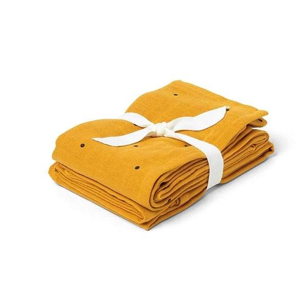 Image of   Liewood Stofble 2-pak - Mustard Dot