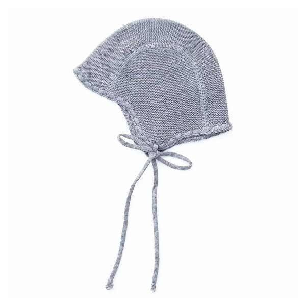 N/A Selana babyhat i uld - schiefer fra parcellet