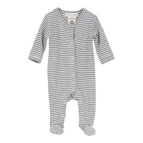 Serendipity Newborn Suit Grey/Ecru