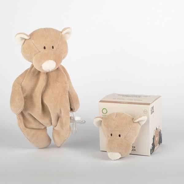 N/A – Wooly organic teddy nusseklud m. sutteholder på parcellet