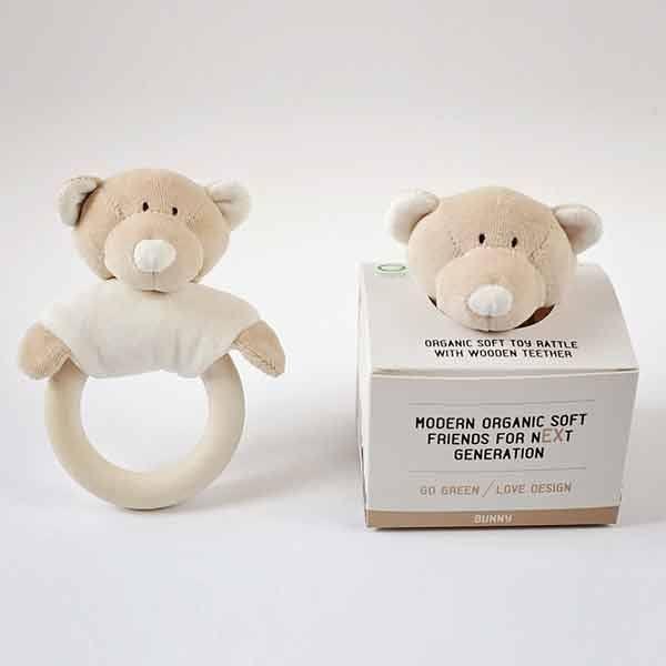 N/A Wooly organic teddy rangle m. bidering på parcellet