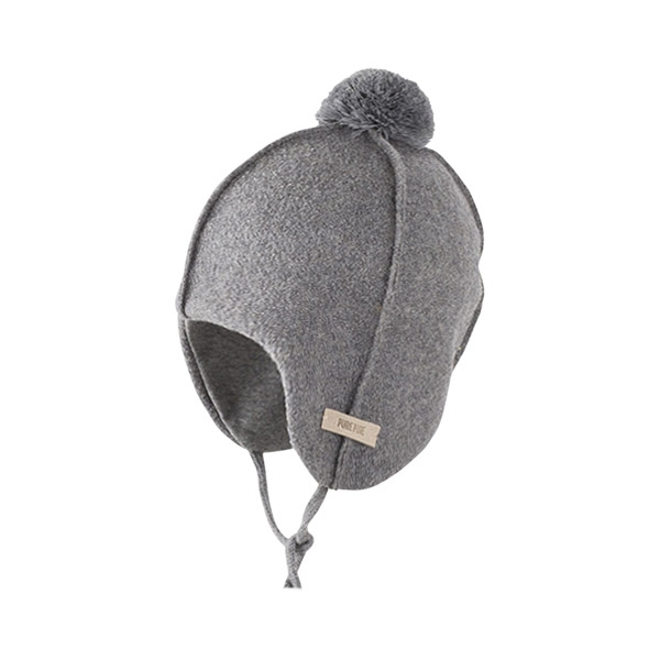 Pure Pure Uldhue med Pompom - Silver Grey
