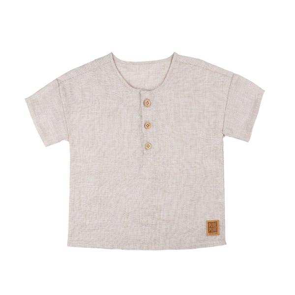 Pure Pure Kortærmet Skjorte - Sand Checks