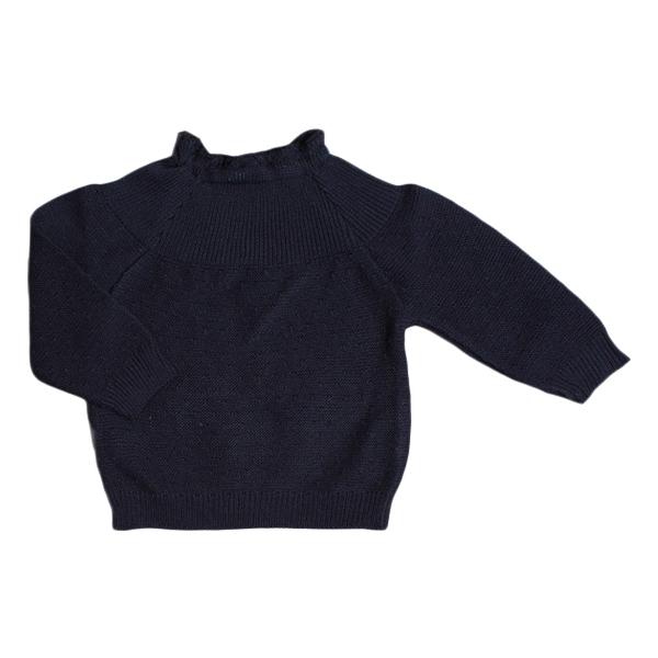 Selana Sweater Bomuld - Marine