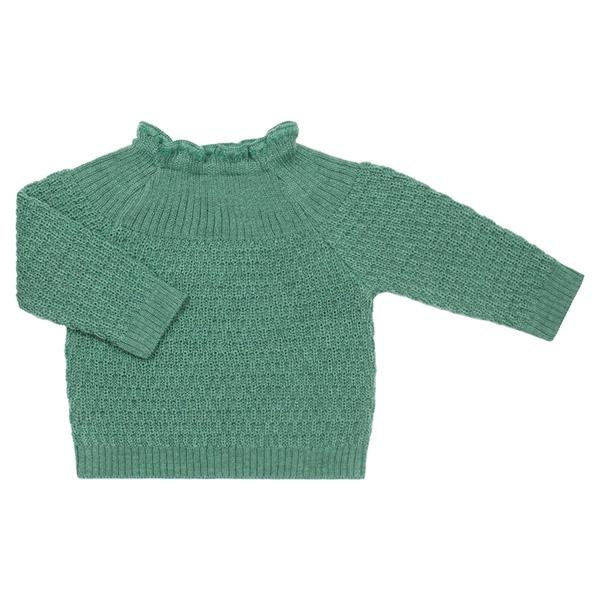Selana Uld Sweater - Dusty Green