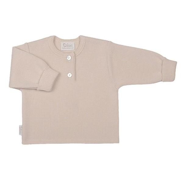 Selana Uld Sweater m. Knapper - Beige