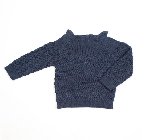 Selana Uld Sweater - Marine